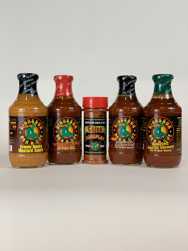 Dinosaur BBQ sauces and spices